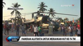 Pameran Alutsista Untuk Meriahkan Hut Ke-74 TNI