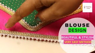 Blouse designs cutting and stitching, Neck design latest, New model blouse design, Blouse cutting
