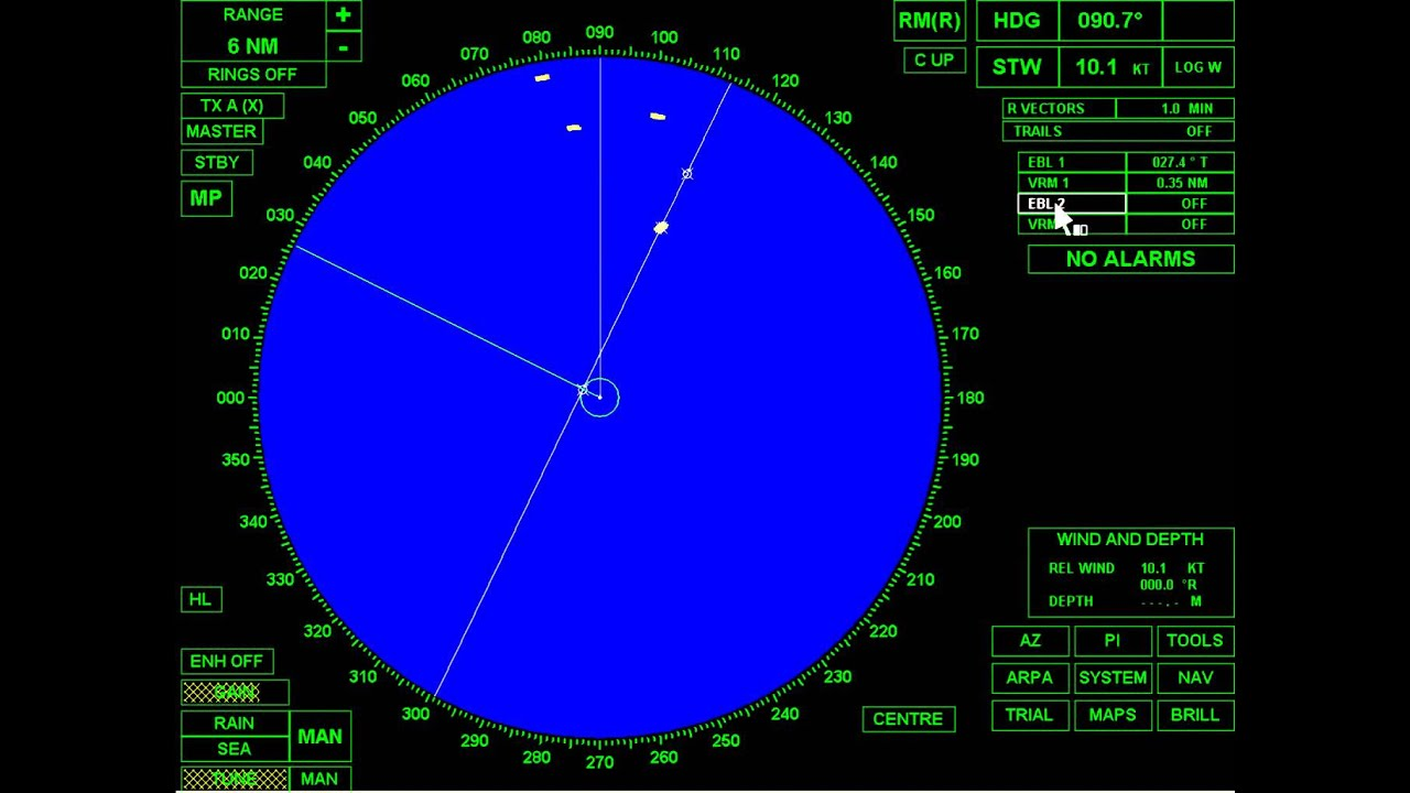 Plotting Radar Bridge Master E Youtube