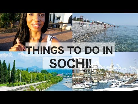 Things to do at Sochi Beach & Marina + World Cup Fun!   Sochi Russia Travel