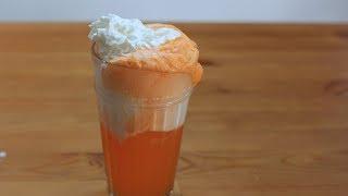 How to Make a Creamsicle Float | Orange Soda and Vanilla Ice Cream Float