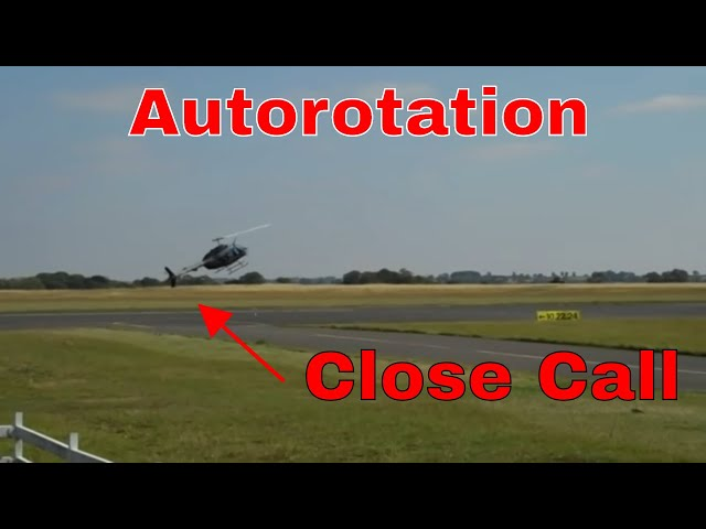 Full down Auto rotation Almost Fail! Bell Jet ranger 206b