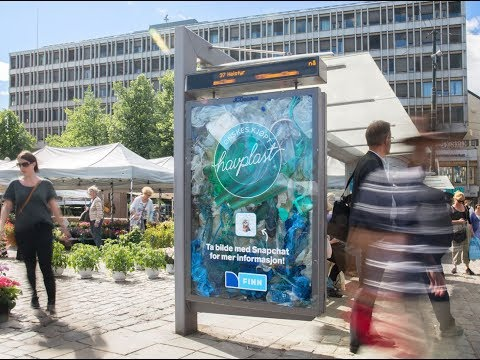 FINN.no highlights ocean pollution at Oslo bus shelter | JCDecaux Norway