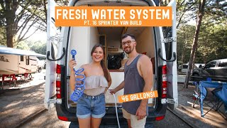 Plumbing our FRESH WATER system » Sprinter Van Build