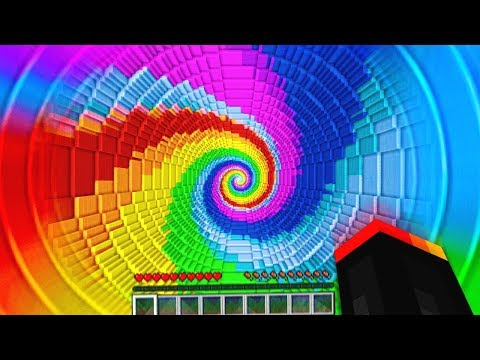 Minecraft EXTREME RAINBOW DROPPER CHALLENGE!