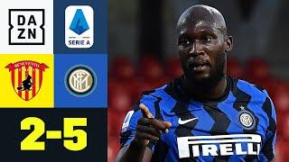 Doppelter Lukaku zum Sieg gegen die Aufsteiger: Benevento - Inter Mailand 2:5 | Serie A | DAZN