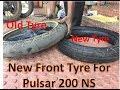 Pulsar NS 200  | Front Michelin Pilot Sporty Tyre | Size 100 80 17 | Govind Bharose