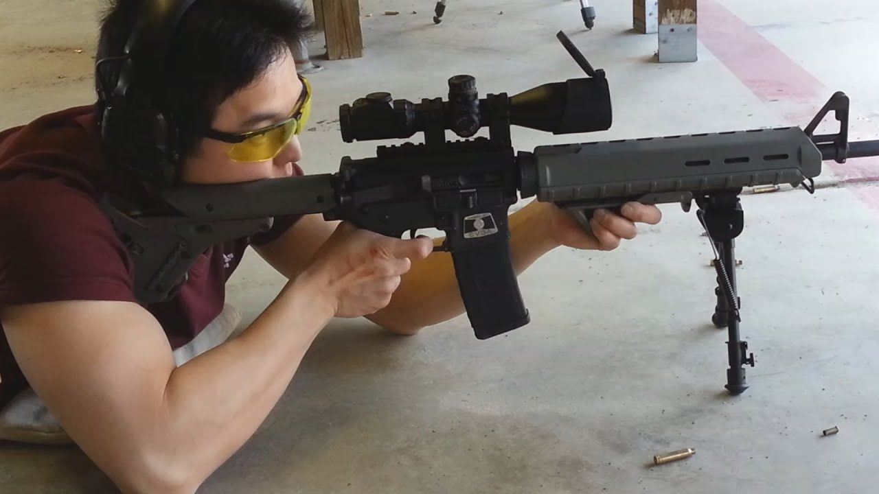 Shooting Range Day Colt Ar 15 With Magpul Furniture And