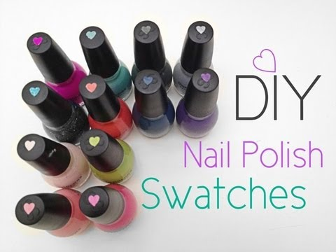 diy nail polish swatch stickers