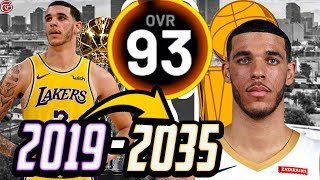 LONZO BALL'S ENTIRE CAREER SIMULATION! HOF POTENTIAL? NBA 2K20