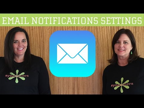 iPhone / iPad Email Notifications Settings