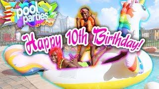 ITS LIT AT YAYA PANTONS 10th BIRTHDAY PARTY!!