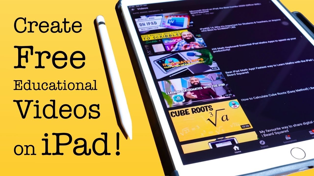 Make Free Educational Videos on iPad!