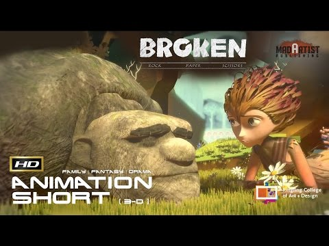 """CGI 3D Animated Short Film """"BROKEN: ROCK PAPERS SCISSORS"""" Cute Fantasy Animation by Ringling College"""