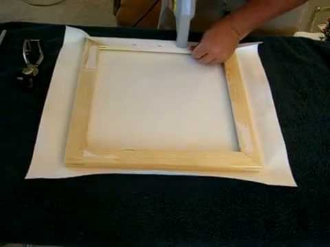How to stretch wrap a canvas giclee print - YouTube
