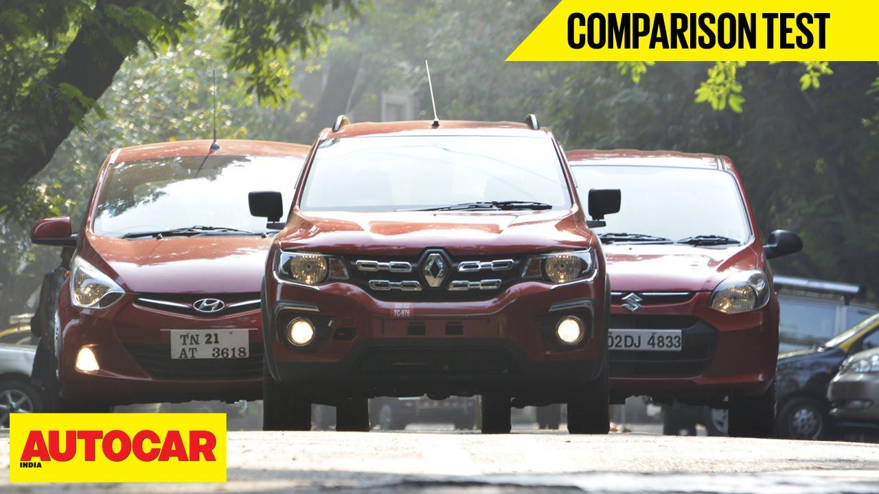 Renault Kwid Vs Hyundai Eon Vs Maruti Alto 800 Comparison Test