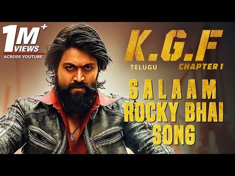 Salaam Rocky Bhai Song With Lyrics | KGF Chapter 1 Telugu Movie | Yash, Srinidhi Shetty
