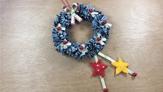 Como reciclar CD e jeans de forma muito criativa para o Natal – Mini guirlanda