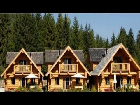 Unbelievable Tiny Log Houses Built by Canadian Company for Italian Vacation Destination