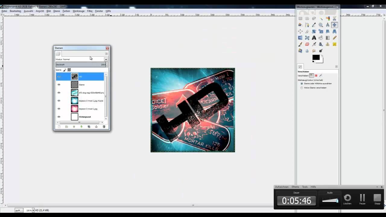 Gimp Tutorial #010 | Youtube Profilbild erstellen - YouTube