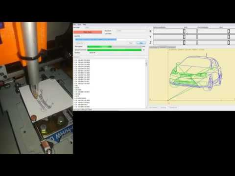 Drawing Seat IBIZA with MINI CNC plotter (arduino based)