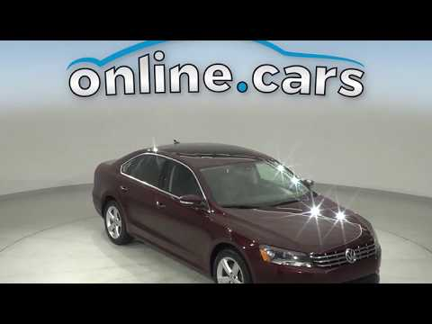 C12723NA Used 2013 Volkswagen Passat TDI SE FWD 4D Sedan Ruby Test Drive, Review, For Sale