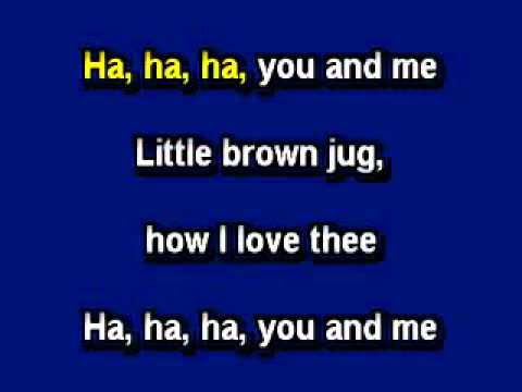 Little Brown Jug, in the style of Joseph Winner, Karaoke video with lyrics, Instrumental Version