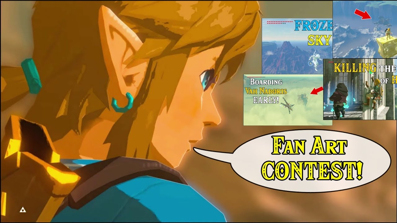 Fan Art Contest With Prizes Drawing Mety S 400 Crazy Thumbnails 2nd Anniversary In Zelda Botw Youtube