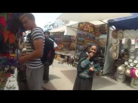Crazy lady in Otavalo market (pt. 04)