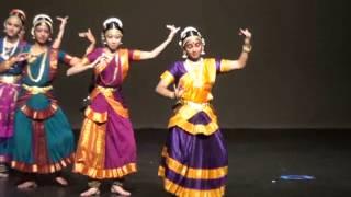 "Kalanjali annual show 2012- Bharatanatyam Keerthanam ""Mamavathu Sri Saraswati"""