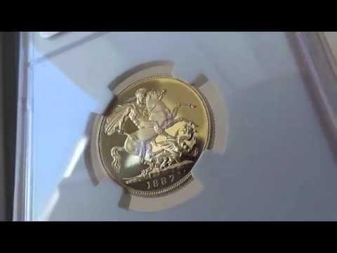 グレートブリテン 1ソブリン プルーフ金貨Victoria gold Proof Sovereign 1887 PR63 Ultra Cameo NGC