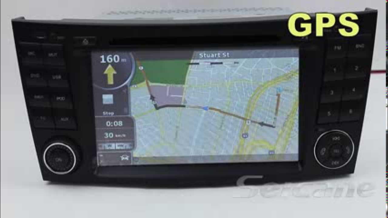 in dash 2 din dvd gps navigation stereo for mercedes e. Black Bedroom Furniture Sets. Home Design Ideas