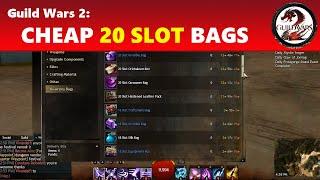 Guild Wars 2: Cheap 20 Slot Bags (Under 5 Gold!)