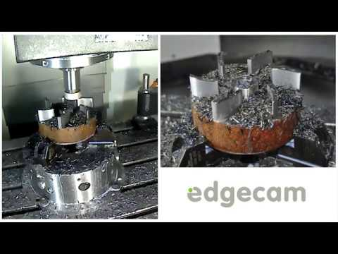 Edgecam driving the Mazak VCN530 with Iscar Tools at MACH2018