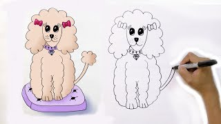 Draw a Cartoon Poodle in 2 Minutes