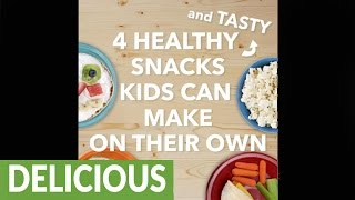 4 easy and healthy snacks children can make