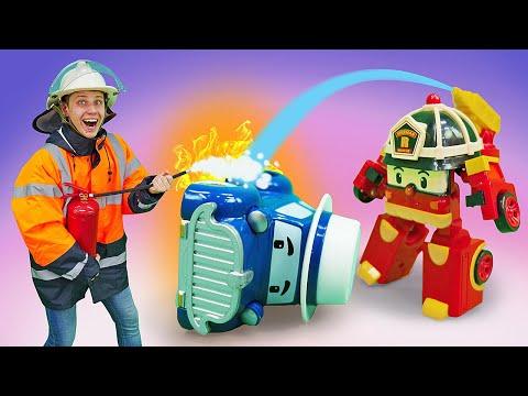 Игры в игрушки машины помощники. Робокар Поли спешит на помощь! Истории про робокары мальчикам