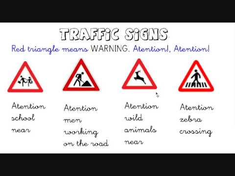 Some traffic signs and road safety rules