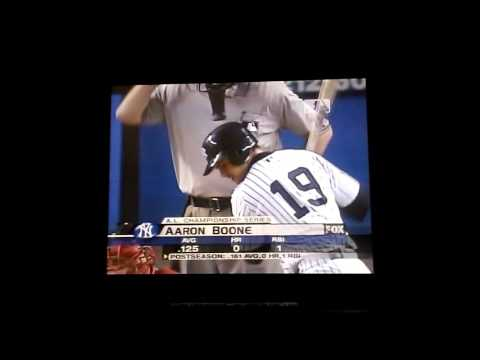 Aaron Boone Walk Off Homerun 2003 ALCS Game 7 Radio Version