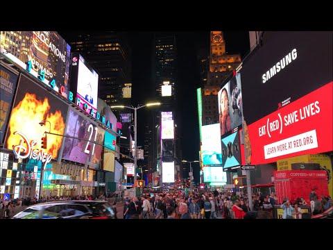 Times Square and Rockefeller Center in New York City - June 2018 [4K]
