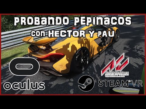 Oculus Rift CV1 || Assetto Corsa || Probando la RV con Amigos ||