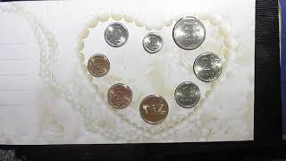 Свадебный набор монет банка России СПМД 2008 года