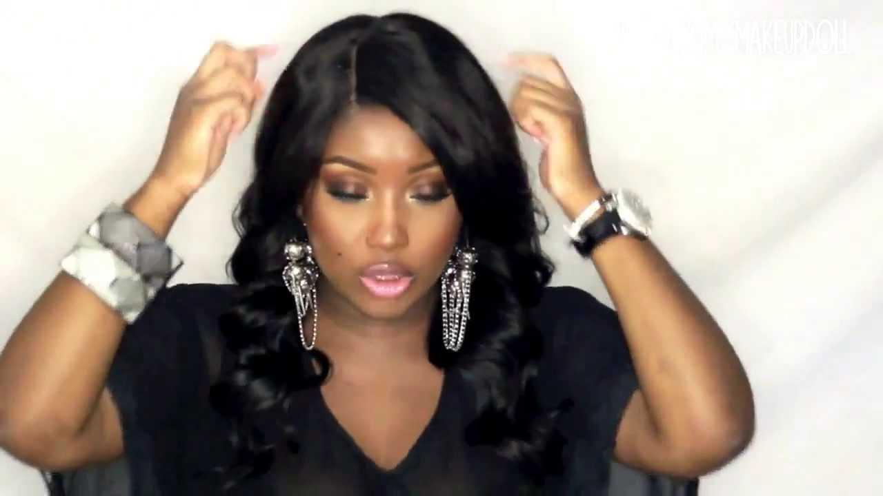 db177a6dbc5 It's a Wig Salon Remi 100% Brazilian Human Hair Part Lace Wig Body Wave -  YouTube