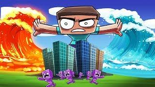 Minecraft | LAVA TSUNAMI VS TSUNAMI CHALLENGE! (Which one will Win?)