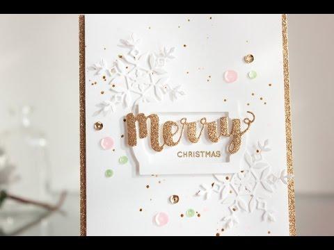 glitter christmas card
