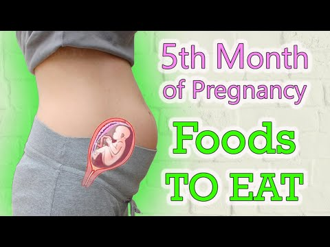 Best Foods To EAT During The 5th Month of Pregnancy Diet  (Week 18 to 22th).