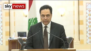 Lebanon PM announces resignation of his country's government