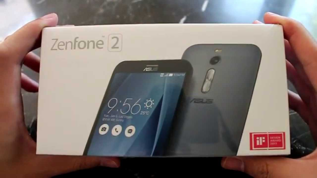 4b6100d78 Asus ZenFone 2 Unboxing Silver 16GB - YouTube