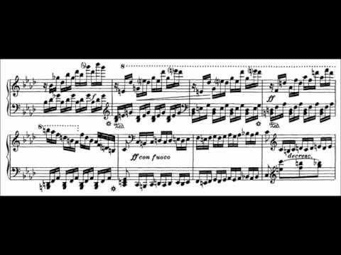 Franz Liszt - Etude S. 136 No. 10 (audio + sheet music)