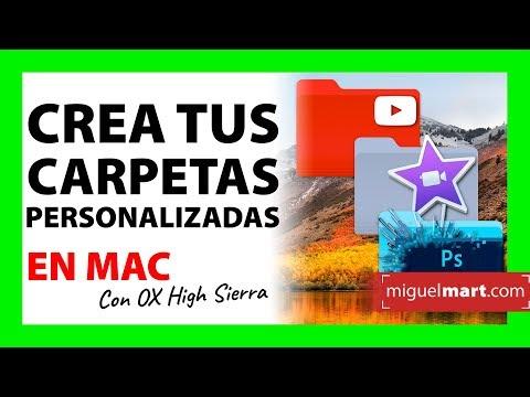 Carpetas PERSONALIZADAS en MacOS High Sierra Español 2018